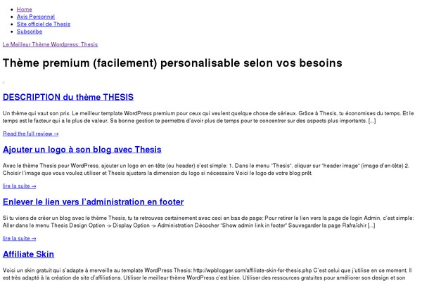 thesis 1.8 wordpress theme rapidshare Thesis theme is one of the best theme for wordpress it has more number of features for blogging thesis theme is very useful and also user friendly.